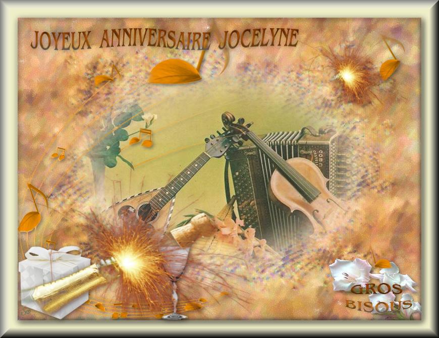 Bon Anniversaire Jocelyne H