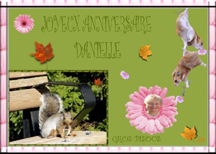 Bon Anniversaire Danielle
